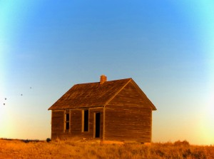 The school house is all that remains of Buckingham, long abandoned, the rest of the town was lost to a prairie fire.