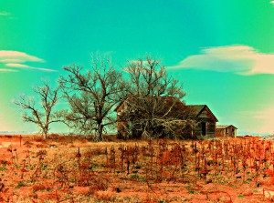 Abandoned farm house near Grover