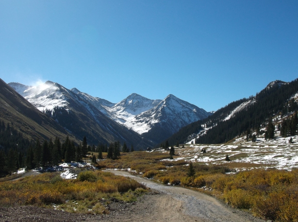 The road to Animas Forks before the steep ascent