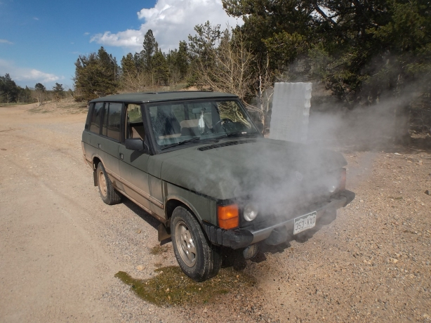 My overheating Range Rover that led to the discovery of the Williamsburg site.