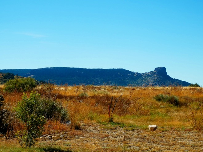 Where the buttes meet the prairie near Branson, Colorado- Approximate location where the Third Texas Cavalry crossed the frontier into Colorado Territory in 1864.